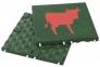 plytka zielona krowa